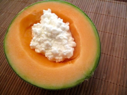 cantaloupe & cottage cheese