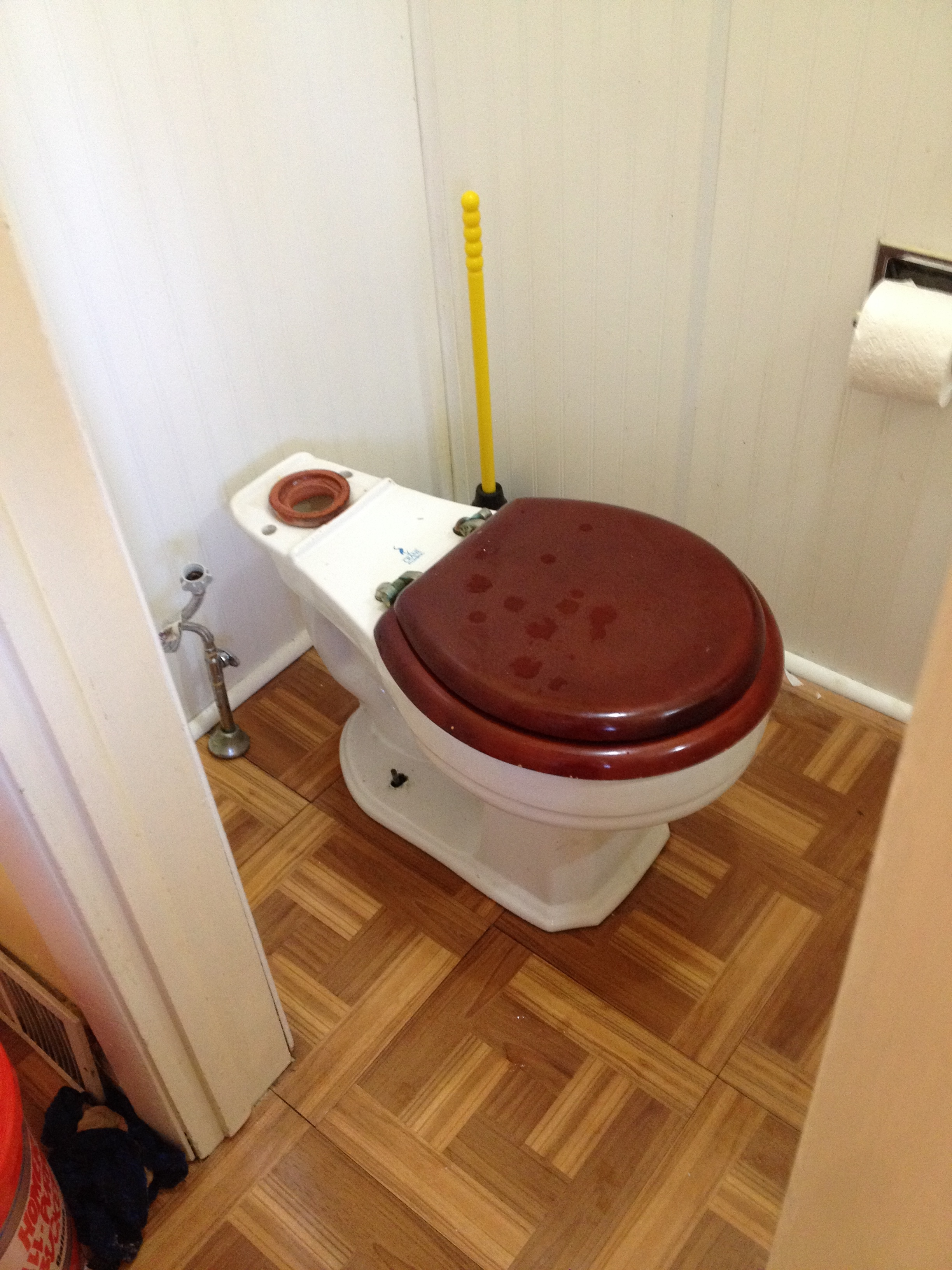 installing new watersense toilets part 2 frugal living. Black Bedroom Furniture Sets. Home Design Ideas