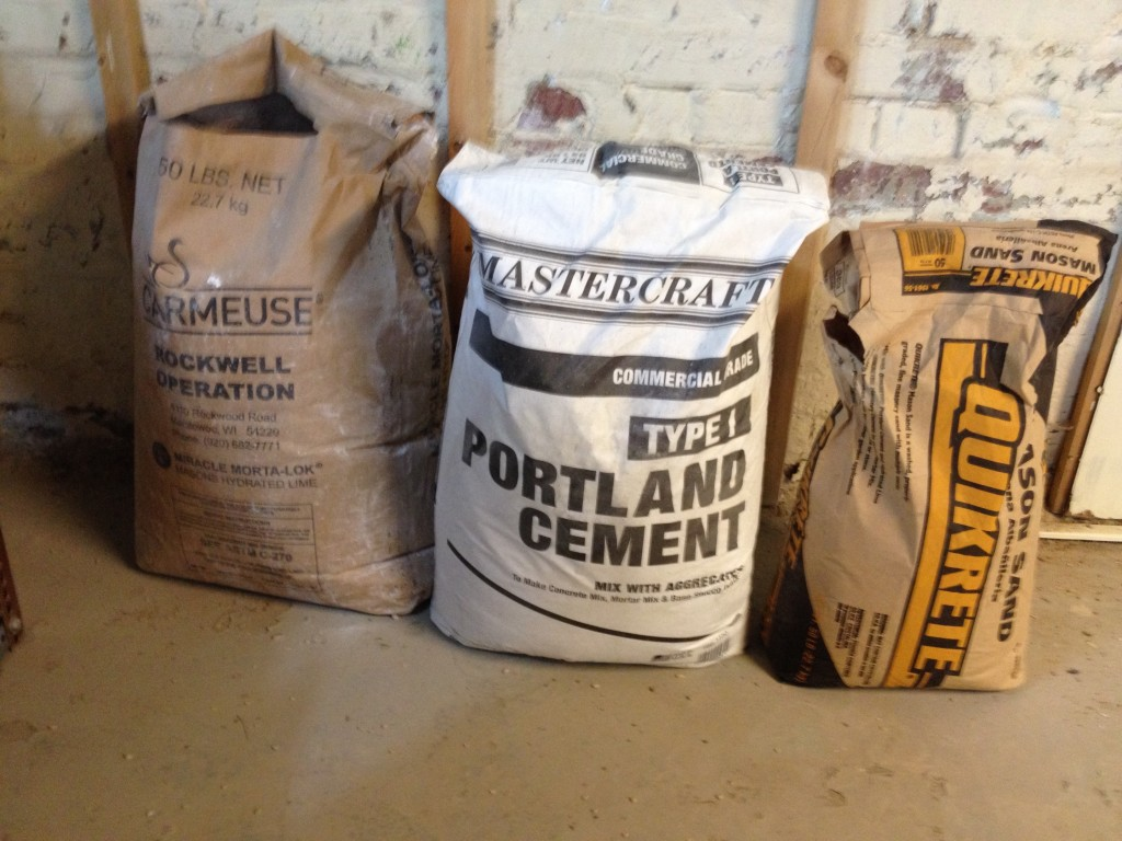 Portland Cement Mix : Repointing a basement wall frugal living