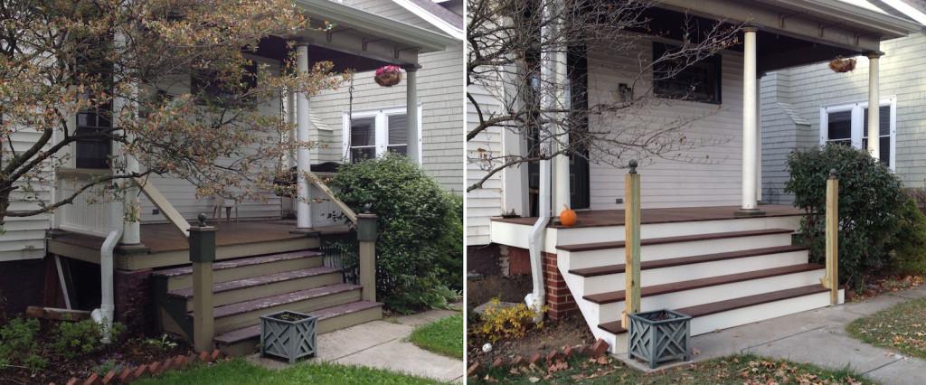 Porch Rebuild Progress