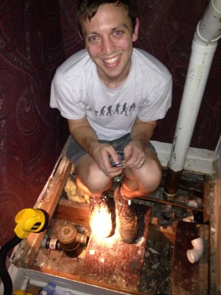 leaky plumbing everywhere!