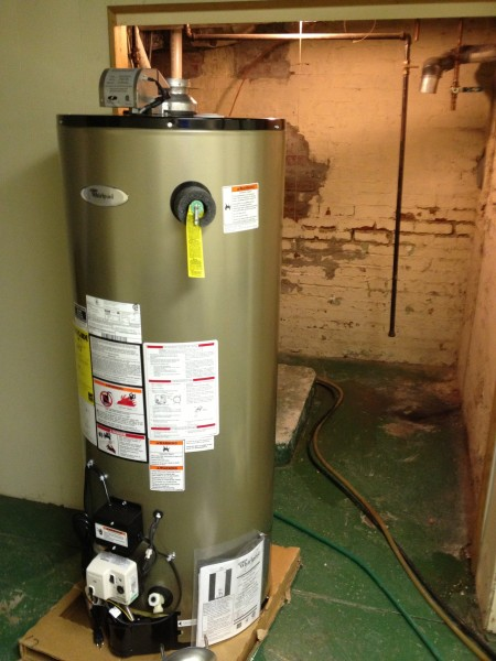 New Water Heater Required on Day 1