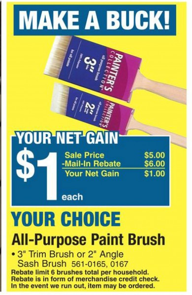 Menards Paint Brush Deal – Frugal Living